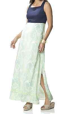 SAIL TO SABLE PONTE & PAISLEY MAXI LONG RESORT DRESS NWT M