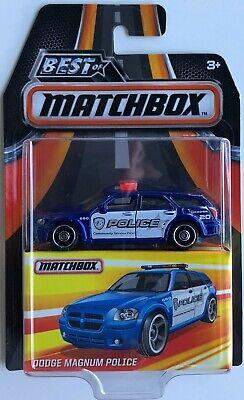 2017 Matchbox Best of Dodge Magnum Police Blue / MOC