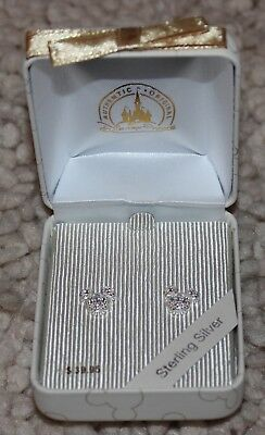 .925 Disney Parks Sterling Silver Mickey Mouse Icon Stud Earrings In Gift Box