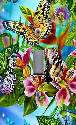 Light Switch Plate Outlet Covers Home Decor COLORFUL BUTTERFLY BUTTERFLIES (Butterfly Light Switch)