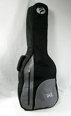 """TKL 40"""" Soft Padded Guitar Case Carry Gig Bag Black Gray Backpack straps"""