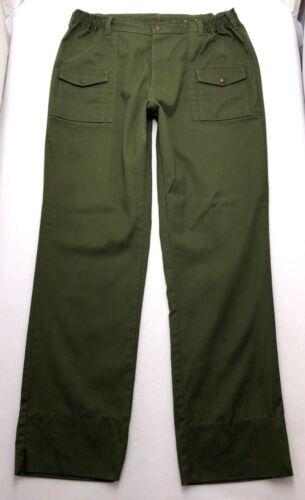 "P155 VTG USA Boy Scouts Uniform Cargo Pants sz 38 (Mea 34-38"" x 33"")"