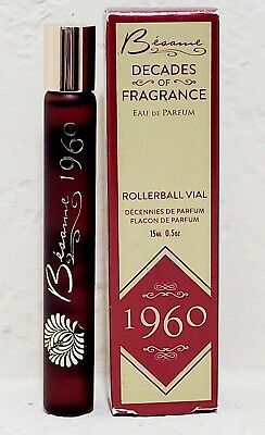 BESAME COSMETICS DECADES OF FRAGRANCE 1960 EAU DE PARFUM ROLLERBALL PERFUME