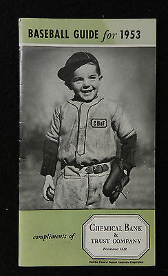 1953 Chemical Bank   Trust Baseball Guide High Grade