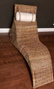 IKEA - rattan and wicker chaise lounge