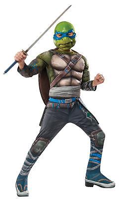 Teenage Mutant Ninja Turtles 2 Leonardo Child Costume Jumpsuit Halloween (Teenage Mutant Ninja Turtles Leonardo Jumpsuit Kostüm)