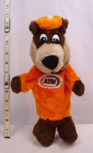 A&W ROOT BEER BEAR PLUSH HAND PUPPET ADVERTISING CHARACTER
