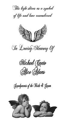 Personalized Memorial In Loving Memory Of Luminaries Wedding Table Decorations - Wedding Luminaries