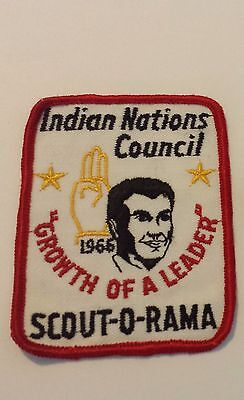 """BSA - 1966 Indian Nations Council Scout-O-Rama Patch - """"Growth of a Leader"""""""