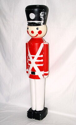 Vtg Blow Mold Christmas Toy Soldier Nutcracker Yard Decor Light Union USA 1987