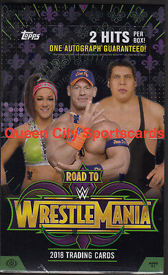 2018 Topps WWE Road To Wrestlemania Factory Sealed Hobby Box