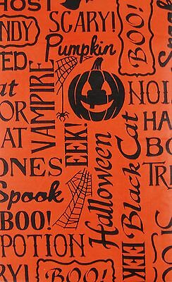 Halloween Scary Words and Phrases Vinyl Flannel Back Tablecloth Various Sizes