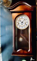 BUCHERER Pendulum Wall Clock, Solid Wood, Gorgeous, May Need A Tune Up