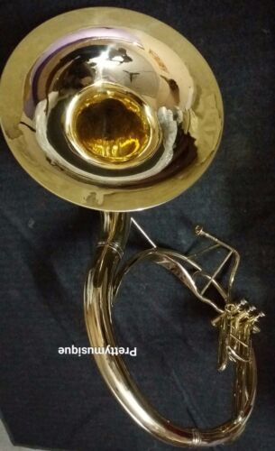 """SOUSAPHONE 22"""" BELL OF PURE BRASS IN BRASS POLISH+ CASE + MOUTHPC+ FREE SHIPPING"""
