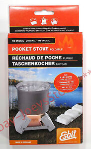 Esbit-Original-Foldable-Pocket-Stove-w-6-Solid-Fuel-Cubes-Camping-Survival-Gear