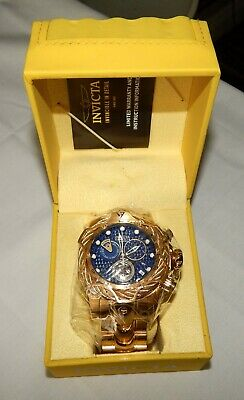 Invicta Reserve Venom 52.5mm Blue Dial Chronograph Men's Diver Watch NEW 27701