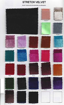 Stretch Costumes (Stretch Velvet Fabric 60'' Wide by the Yard for Sewing Apparel Costumes)