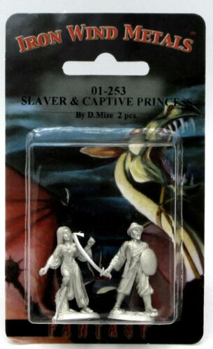 Ral Partha 01-253 Slaver & Captive Princess (NPC Encounter) Warrior Female Slave
