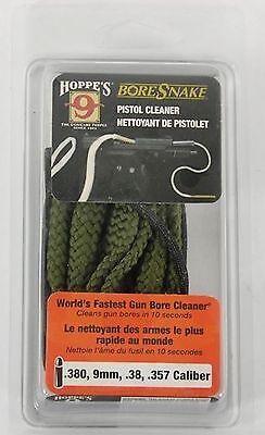Hoppe's BoreSnake Pistol Cleaner Gun Cleaning .380 9mm .38 .357 Caliber 24002