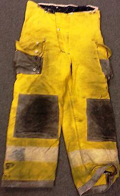 38x28 Firefighter Pants Bunker Turnout Fire Gear - Janesville Fire Wear  P606