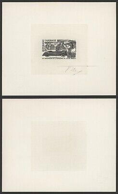 Gabon - Imperforate Miniature Sheet Mint Stamp Proof Essay Signed R357