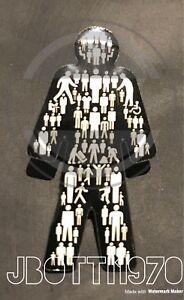 Brand New Prostate Cancer ©- (MEN UNITED)  🌟 🔵⚫️🚹⚫️🔵 🌟 UK Pin Badge Sealed