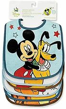 Disney Baby Mickey Mouse Deluxe Terrycloth - Vinyl Bib Set Colors May Vary 6 ea