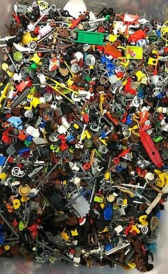 100x LEGO MINIFIGURE ACCESSORIES WEAPONS RANDOM BULK LOT