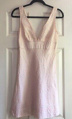Used, J Crew Silk Seersucker Dress 4 S Summer Shower Wedding V Neck for sale  New York