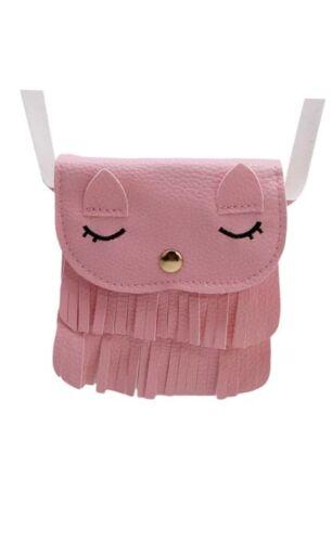 Cat Tassel Shoulder Bag Small Coin Purse Crossbody Satchel f