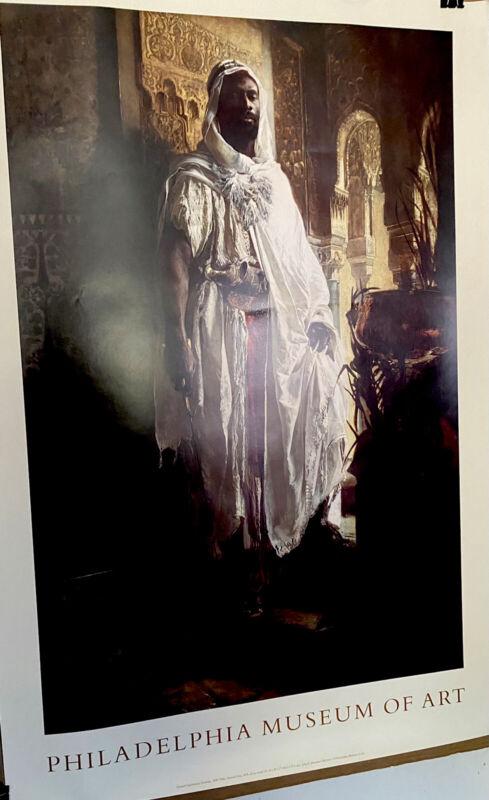 """Black Moorish Chieftain"" Philadelphia Museum Of Art Poster Out Of Print 38x26.5"