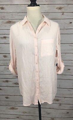 Nordstrom Rack Susina Womens Button Down Shirt Cotton Long Sleeve Size Xs B0 40