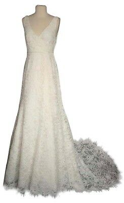 J.CREW SARA LACE GOWN WEDDING DRESS SIZE 4 IVORY 94389 $2200
