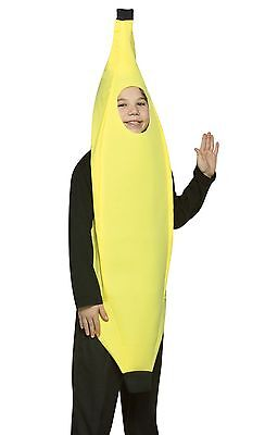 Banana Costume Comical Girls Childs Boys Humorous Funny - Size 7-10 - Fast - Funny Girls Costume