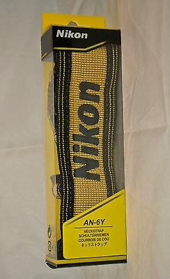 GENUINE NIKON Nylon Strap Yellow AN-6Y Neck Shoulder Digital SLR Camera Japan