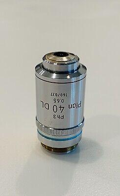 Nikon Plan 40x0.65 Dl Phase Microscope Objective 160mm Optiphot Labophot