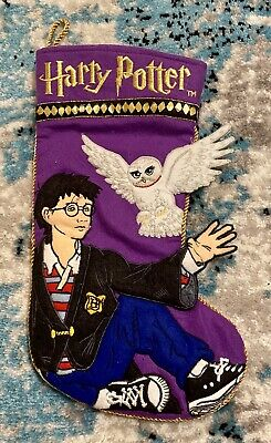 "Vintage Harry Potter Holiday Christmas Stocking Harry Potter 14"" Felt"