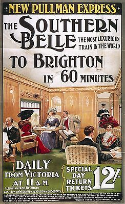 SOUTHERN BELLE LONDON TO BRIGHTON  Vintage  poster  Photo print A4, or A5  movie (Southern Belle Movies)