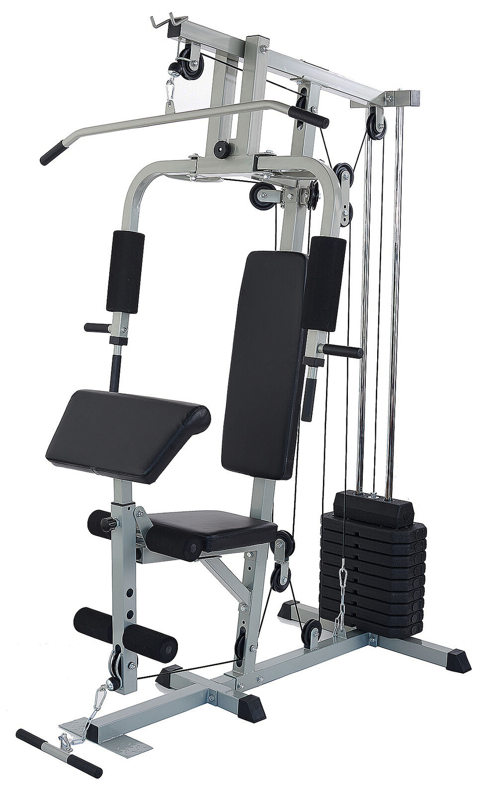 Home Gym System Workout Station Heavy Duty Fitness Workout E