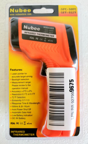 Digital IR Infrared Thermometer Gun industrial with laser pointer- non med grade