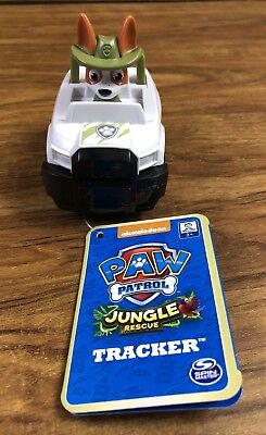 New Paw Patrol Jungle Rescue Pup TRACKER Rescue Racer Vehicle *Hard To Find*