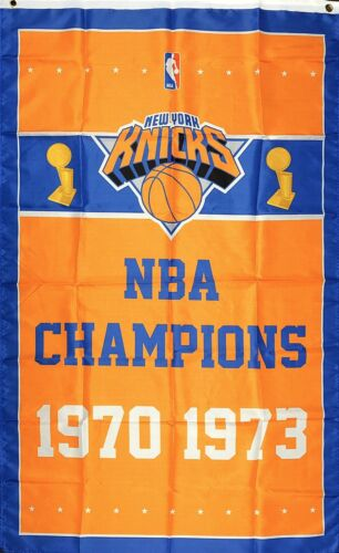 New York Knicks NBA Championship Flag 3x5 ft Banner Vertical