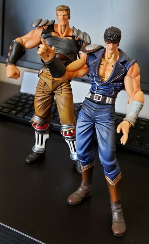 Fist of the North Star Raoh & Kenshiro action figure (by Xebec Toys) (Loose)