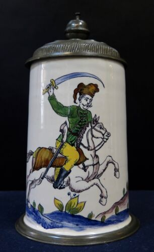 Vintage Late 19th Century Continental Covered Stein