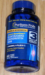 Puritan's Pride Double Strength Glucosamine, Chondroitin & MSM Joint Soother/60