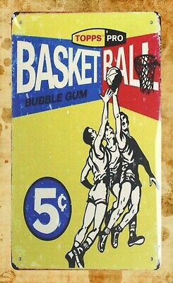 Idea Bubble (US Seller- bedroom room ideas Topps Pro Basketball bubble gum tin metal)
