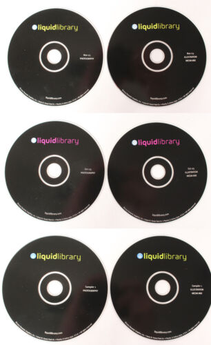Liquid Library Royalty Free Stock Photography Photos 6-CDs Sampler 1+Oct/Nov