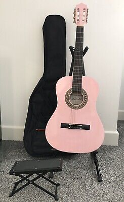 Acoustic Guitar (Herald) with case, foot stand and accessories.