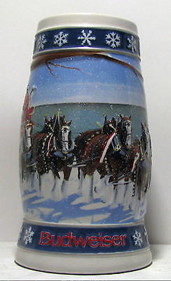 Budweiser Beer 1995 Holiday Stein Lighting The Way Home