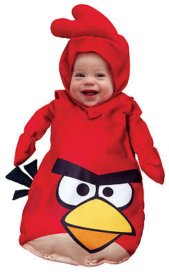 Rovio Angry Birds Red Bird Infant 0-9m Costume Infant Toddler Baby Halloween - Angry Bird Toddler Costume